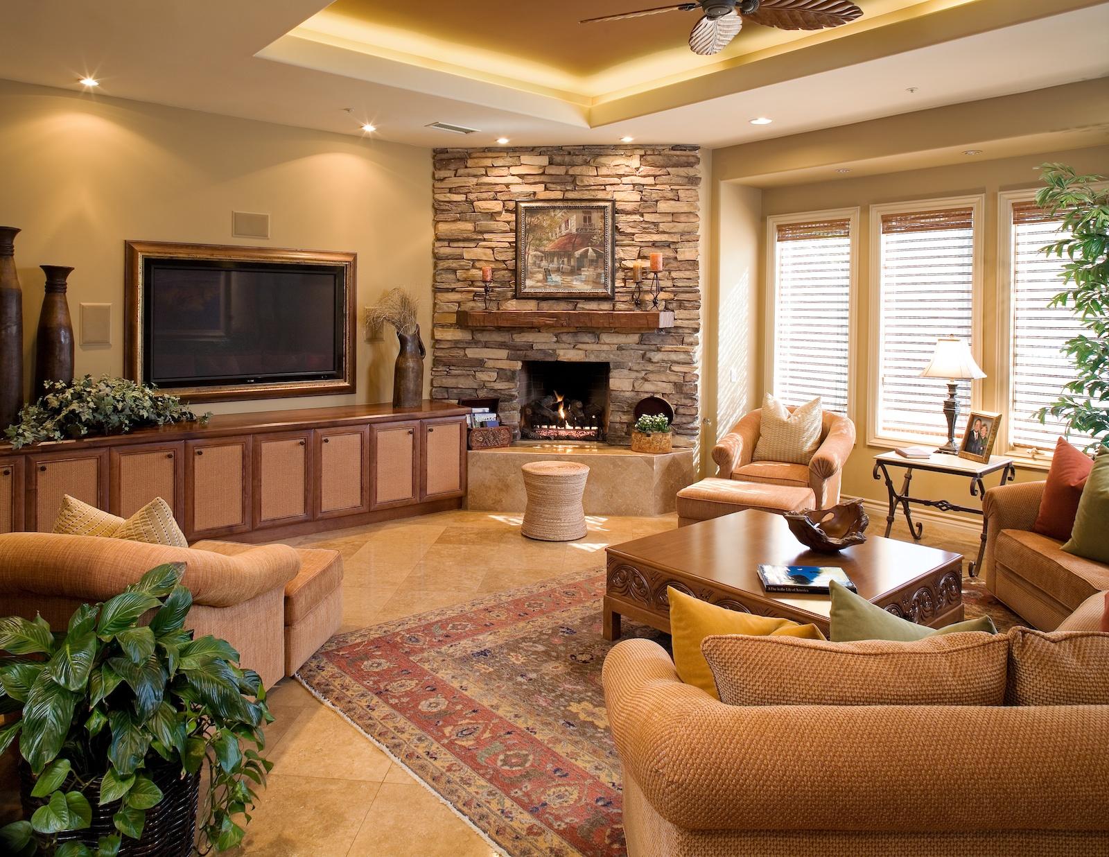 Дизайн гостиной с углом